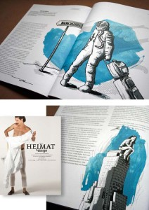 Illustrations for the german magazine HeimatDesign issue 7. Find more information at www.heimatdesign.de