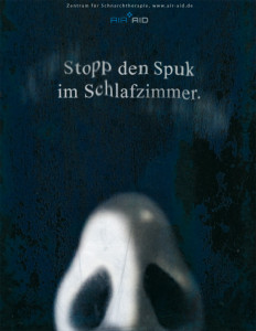 "This example was a campaign for the antiSnoring center AIR AID, in Germany. The above text translates as: ""Stop the horror in your bedroom"". I had a funny time by illustrating the nose!!"